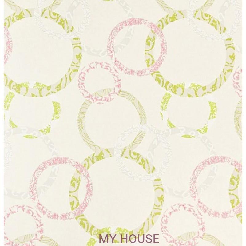 Обои Homes&Gardens II PW78019/8 Roundel Fuchsia/Lime Baker L