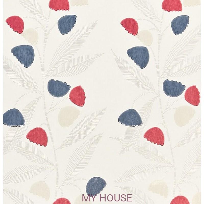 Обои Homes&Gardens II PW78020/3 Bell Flower Cherry/Indigo/Bu