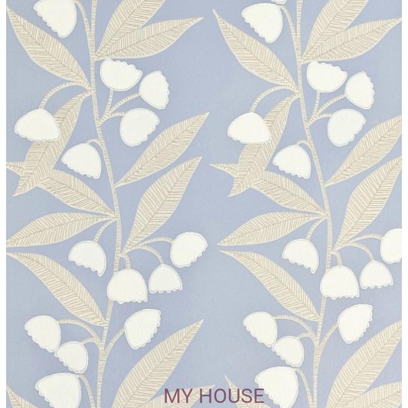 Обои Homes&Gardens II PW78020/6 Bell Flower Blue/Stone Baker