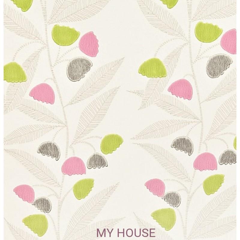Обои Homes&Gardens II PW78020/7 Bell Flower Fuchsia/Spring B