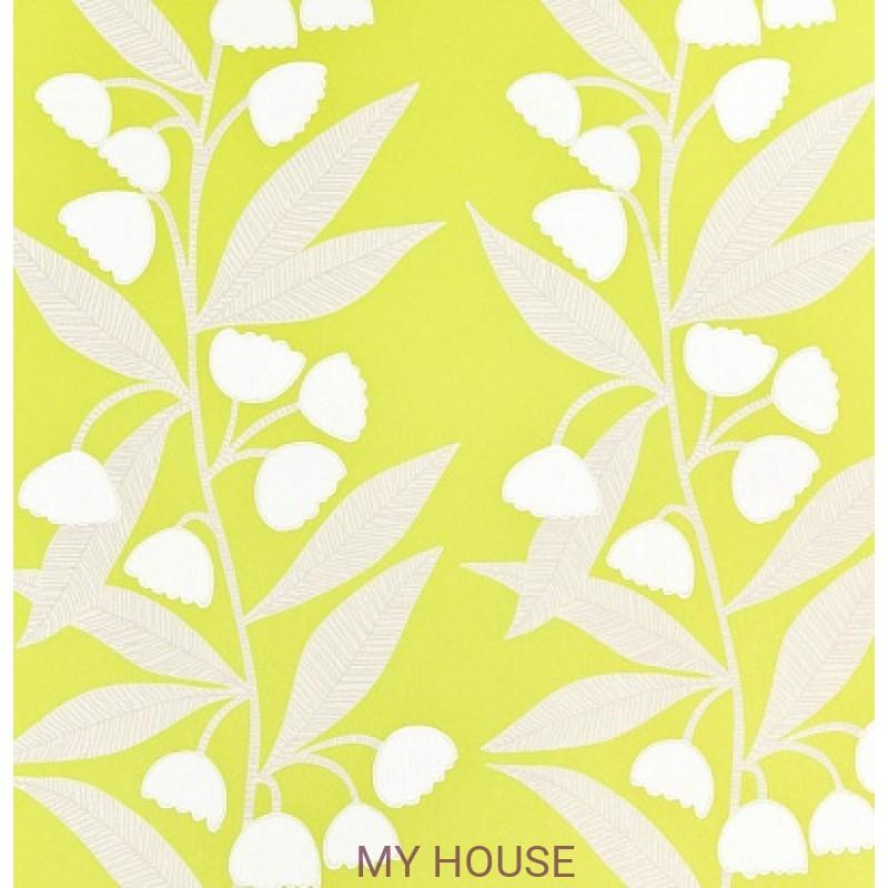 Обои Homes&Gardens II PW78020/8 Bell Flower Lime/Ivory Baker