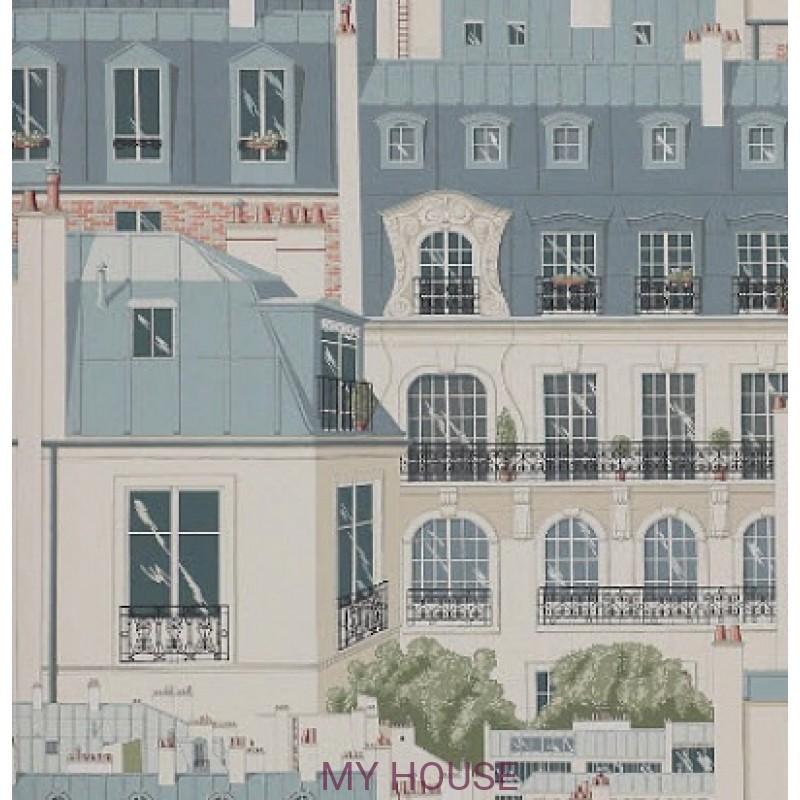 Обои Papier Peints Vol.6 3082/01 Les Toits De Paris Vert de Gris