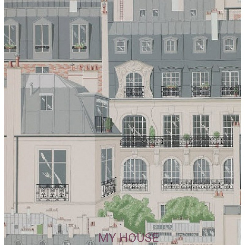 Обои Papier Peints Vol.6 3082/02 Les Toits De Paris Ardoise обои