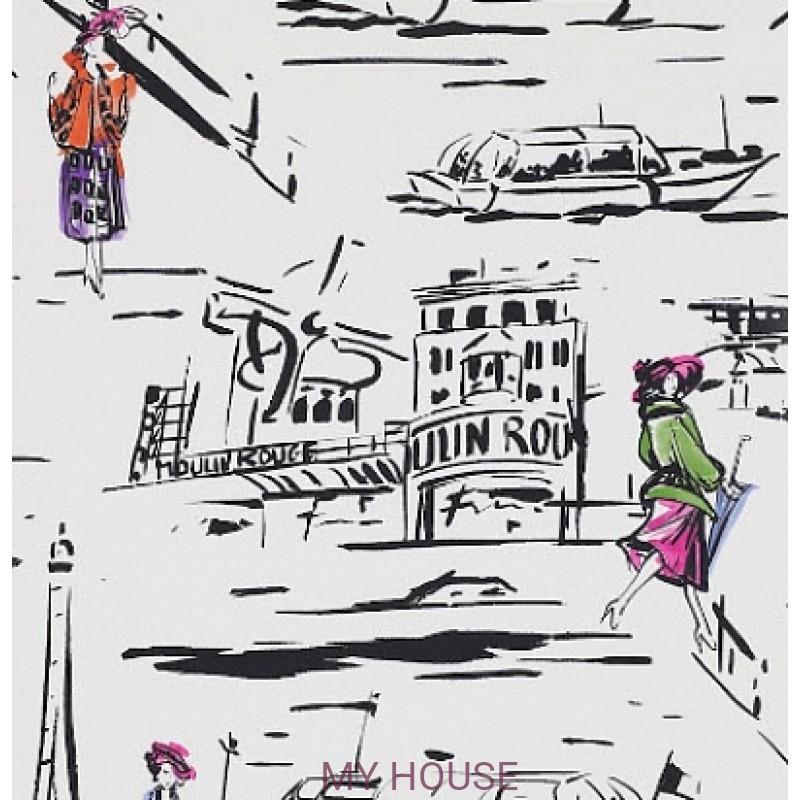 Обои Papier Peints Vol.6 3083/01 La Parisienne Noir/Blanc обои (