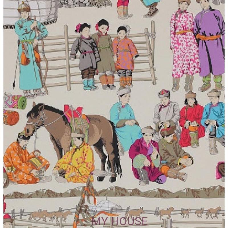 Обои Papier Peints Vol.6 3084/01 Hazara Turquoise обои (0,69м х