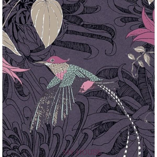 обои фиолетовые с птицами 10908