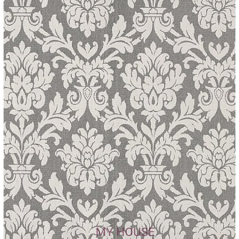 Обои Royal Linen 3300021 Beaune blanc et noir Tiffany