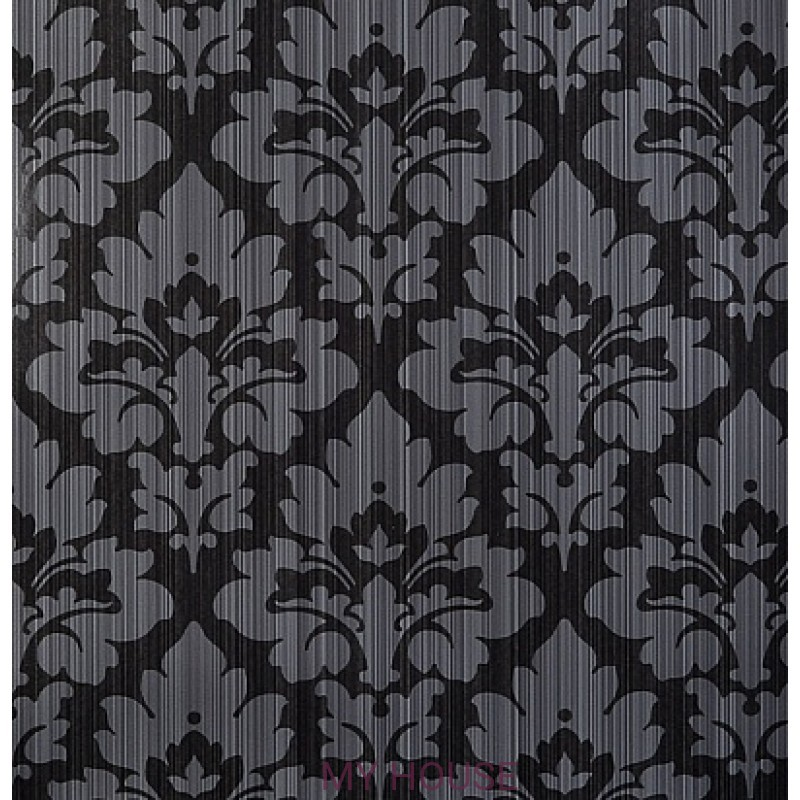 Обои Strie Damask Pattern SDA01005 Eugenie-Black Zoffany