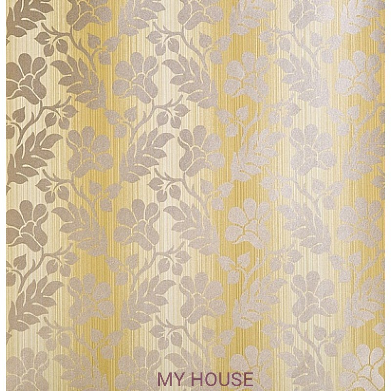 Обои Strie Damask Pattern SDA02007 Opaline Damask-Silk Yellow Zo