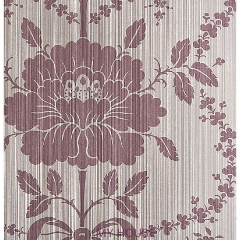 Обои Strie Damask Pattern SDA03005 Pot Pourri Damask-Grape Zoffa