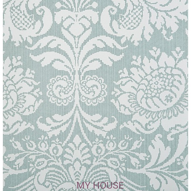 Обои Strie Damask Pattern SDA05005 Romany Damask-Duck Egg Zoffan