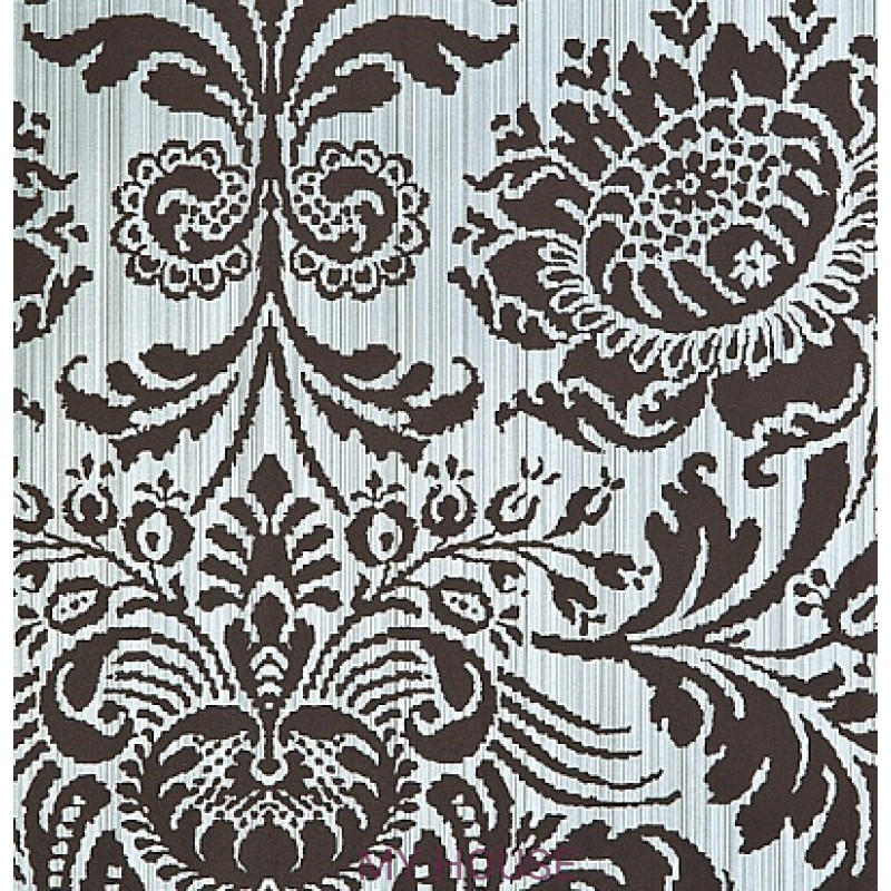 Обои Strie Damask Pattern SDA05008 Romany Damask-Blue Clay Zoffa