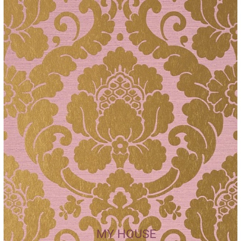 Обои Serenade AT6131 Marlow Metallic Gold on lavender Anna Frenc