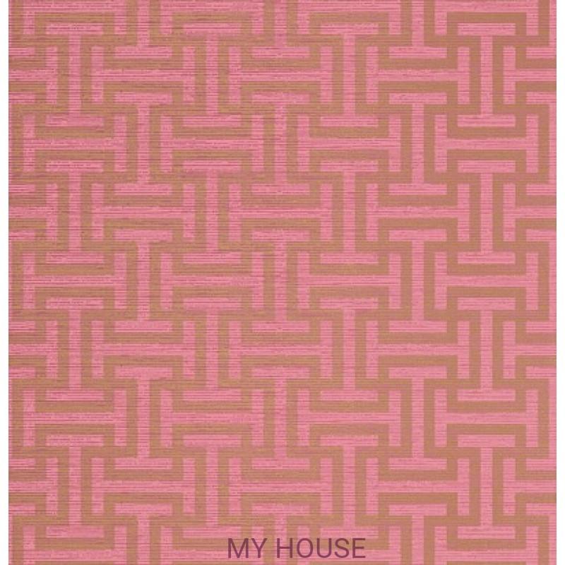 Обои Serenade AT6152 Rymann Metallic gold on pink Anna French
