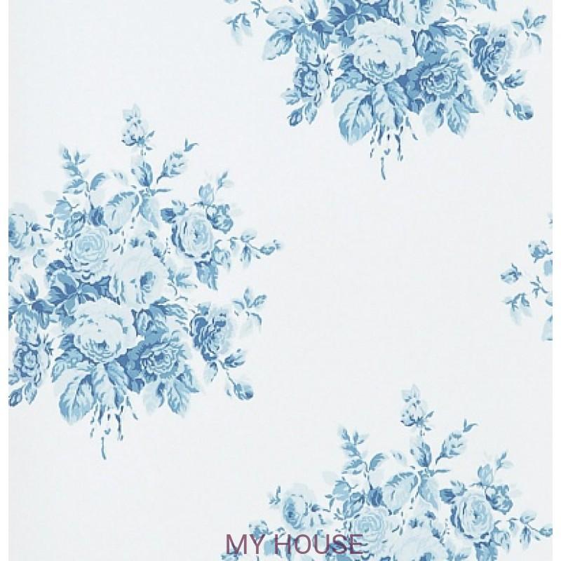 Обои Signature Florals PRL707/02 Wainscott Floral Sky Ralph Laur