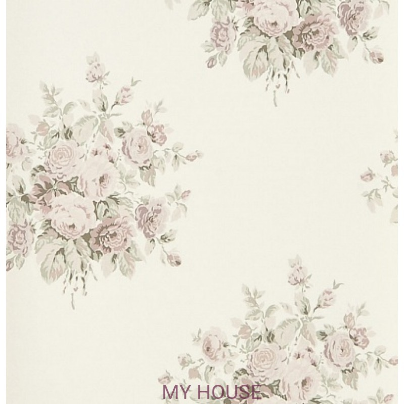 Обои Signature Florals PRL707/03 Wainscott Floral Antique Rose R