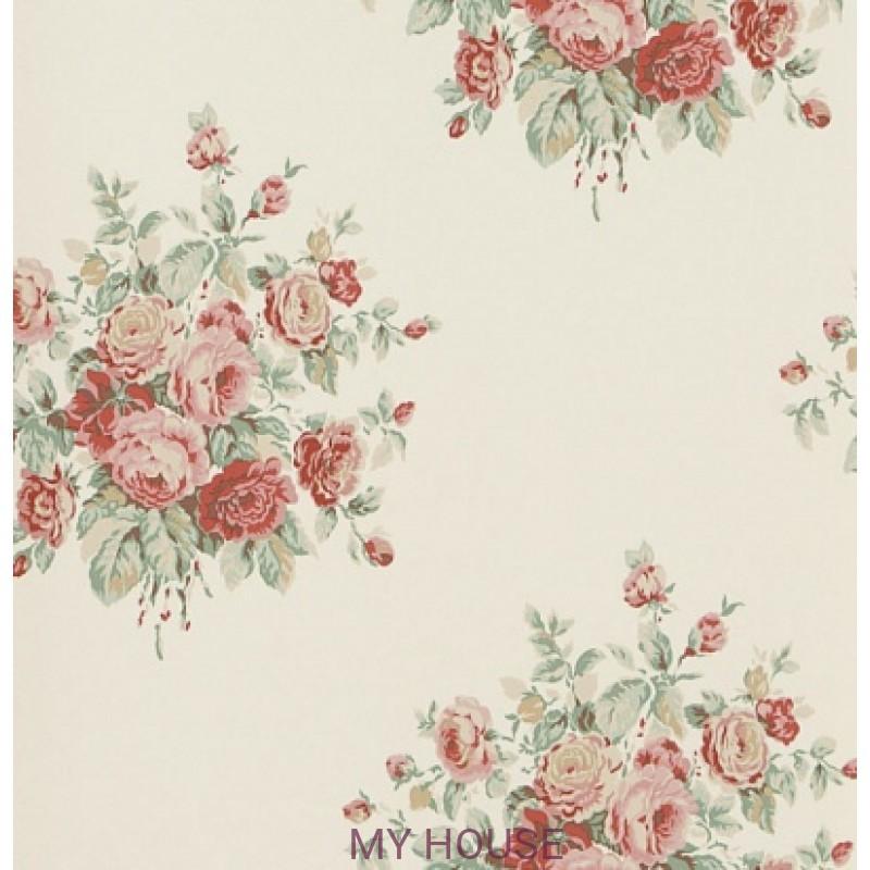 Обои Signature Florals PRL707/05 Wainscott Floral Cream Ralph La