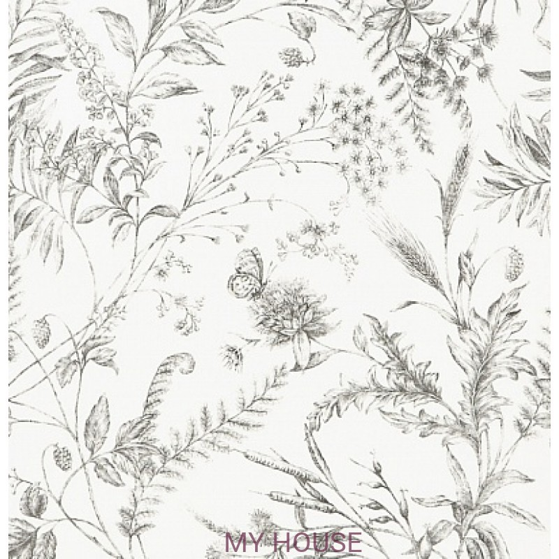 Обои Signature Florals PRL710/03 Fern Toile Pencil Ralph Lauren