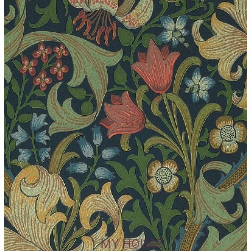 Обои Morris Compendium WM8556-1 Golden Lily Morris&Co