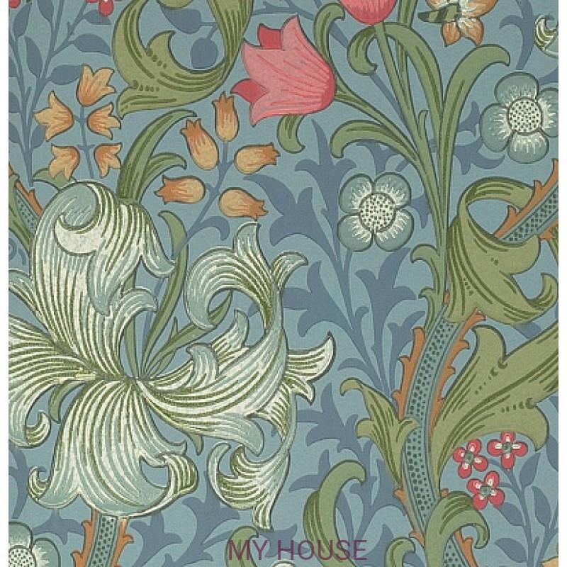 Обои Morris Compendium WM8556-3 Golden Lily Morris&Co