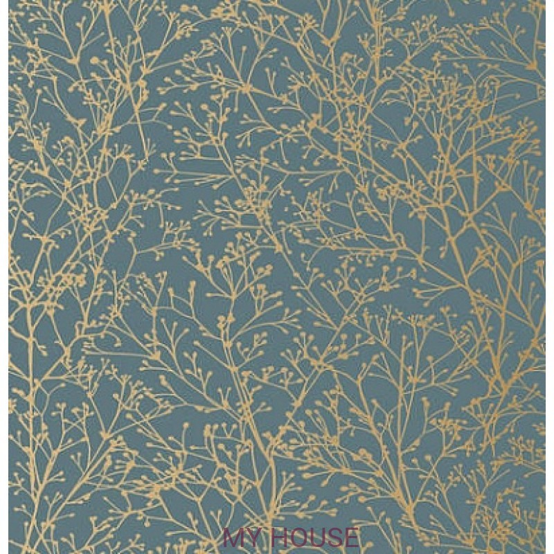 Обои Zola AT34125 Zola Gold on Mineral Blue Anna French