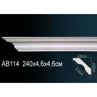 Потолочный плинтус с гладким профилем Perfect AB114