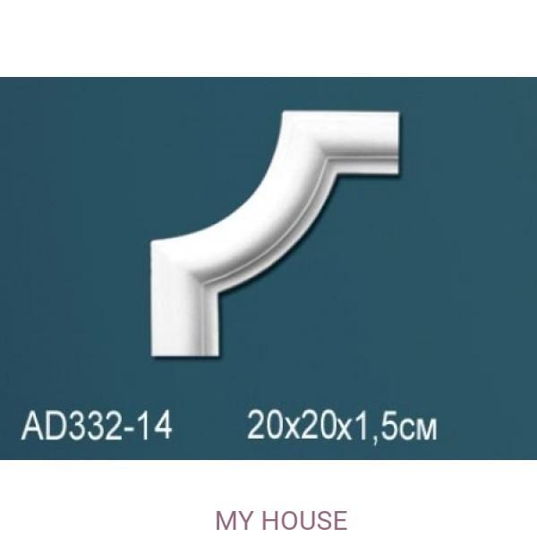 Угловой элемент молдинга Perfect AD332-14