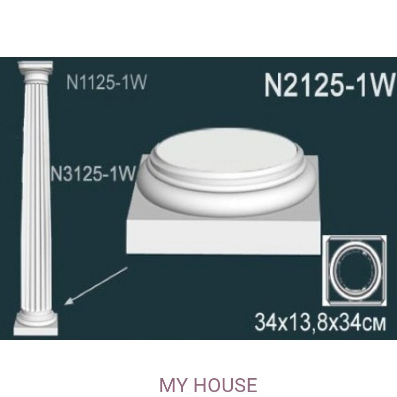 Лепнина Perfect N2125-1W производства Perfect