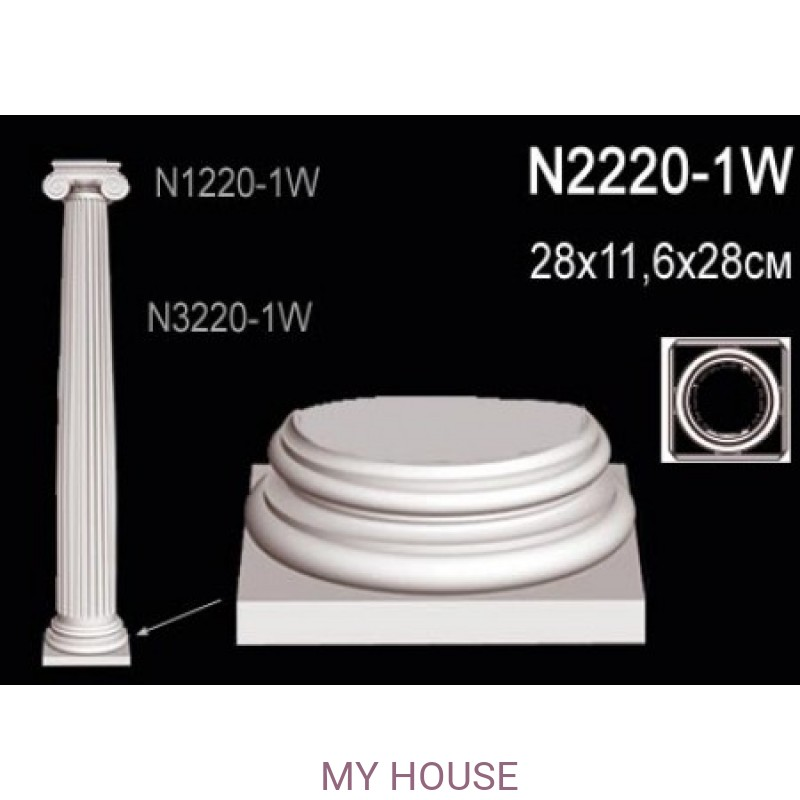 Лепнина Perfect N2220-1W производства Perfect
