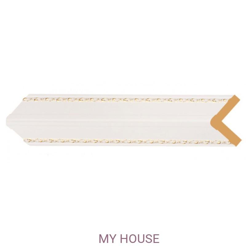 Лепнина Белый с золотом  [Цвет 54] 142-54 производства Decomaster