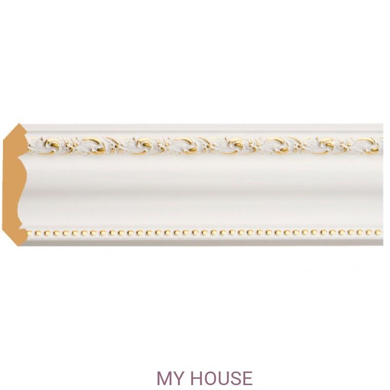 Лепнина Белый с золотом  [Цвет 54] 154-54 производства Decomaster